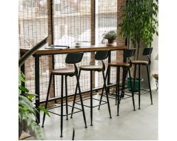 (Pre-order) Long Bar Table 1+2 Set - Brown