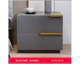 (Pre-order)Bedside Cabinet 4001 2 Drawer - Black