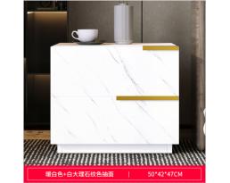 (Pre-order)Bedside Cabinet 4001 2 Drawer - White