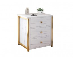 Bedside Table - A10350 - Marble Printed