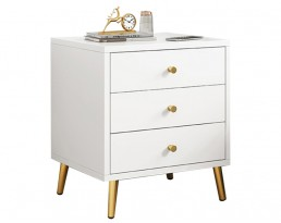 Bedside Table - P116 - White and Gold leg