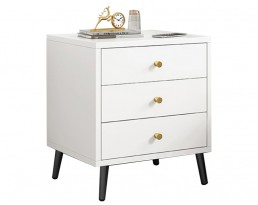 Bedside Table - P116 - White and Black leg