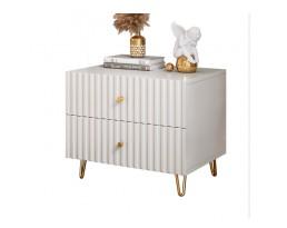 (Pre-order)Bedside Cabinet P150 2 Drawer - White