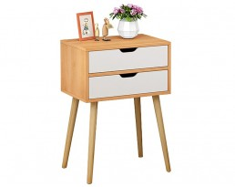 Bedside Table P18S - Wooden Brown