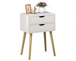 Bedside Table P18S - White