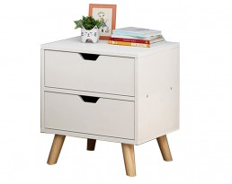Bedside Table P19S - White