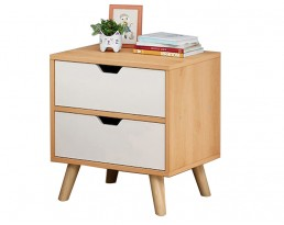 Bedside Table P19S - Wooden Brown