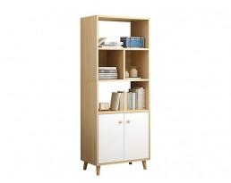 Book Cabinet L169 150cm - Light Wooden