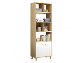 Book Cabinet L169 180cm - Light Wooden