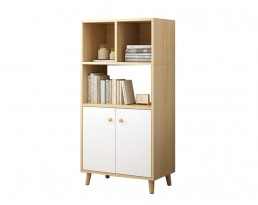 Book Cabinet L169 120cm - Light Wooden