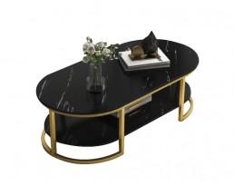 Coffee Table H153 - Black Marble Printed