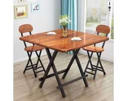 (Pre-order) Foldable Dining Table - Brown