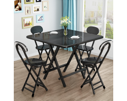 (Pre-order) Foldable Dining Table - Black