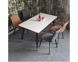 (Pre-order) Dining Table Type 6 501 - White Marble Printed