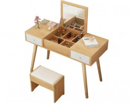 Dressing Table A107 90cm - Wooden Brown