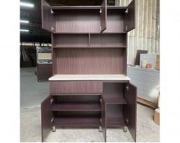 Kitchen Cabinet 3 Door+Top - Dark  Brown