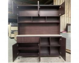 Kitchen Cabinet 4 Door+Top - Dark Brown