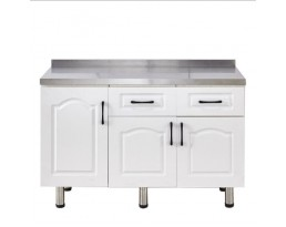 Kitchen Cabinet China 3 Doors - White/Light Wooden/Red/Blue