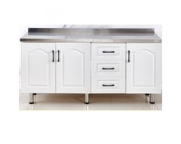 Kitchen Cabinet China 4 Doors - White/Light Wooden/Red/Blue