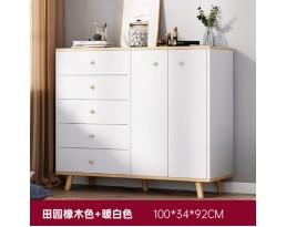 (Pre-order) Multifunction Cabinet DG0014 100cm - White/Dark Brown