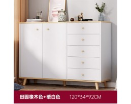 (Pre-order) Multifunction Cabinet DG0014 120cm - White/Dark Brown