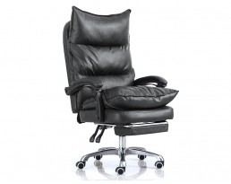 Office Chair 801 with legrest - Black