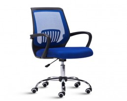 Office Chair 882 -Black Frame Blue Mesh