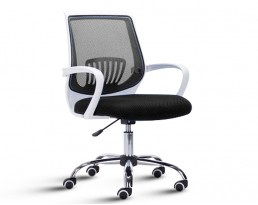 Office Chair 882 -White Frame Black Mesh