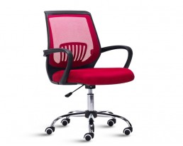 Office Chair 882 -Black Frame Red Mesh
