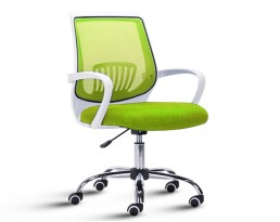Office Chair 882 -White Frame Green Mesh