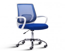 Office Chair 882 -White Frame Blue Mesh