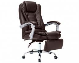 Boss Chair with Leg Rest - Dark Brown