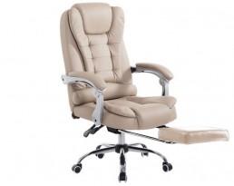 Boss Chair with Leg Rest - Beige