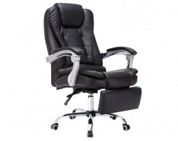 Boss Chair with Leg Rest - Black