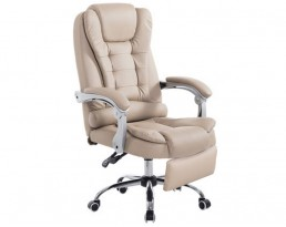 Boss Chair with Leg Rest - Beige