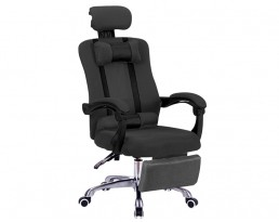Director Chair With Leg Rest - Black