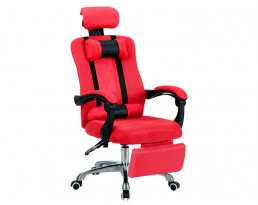 Director Chair with Leg Rest - Red