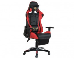 Gaming Chair B with Leg Rest - Red