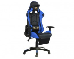 Gaming Chair B with Leg Rest - Blue
