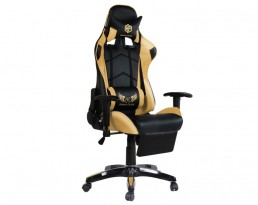 Gaming Chair B with Leg Rest - Golden