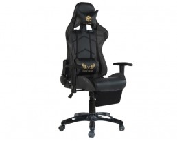 Gaming Chair B with Leg Rest - Black