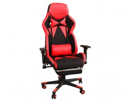 Gaming Chair D with Leg Rest - Red