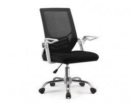 Office Chair QXI-12-White Frame Black Mesh