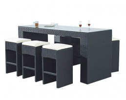 Outdoor Bar Table Set 906 - Black
