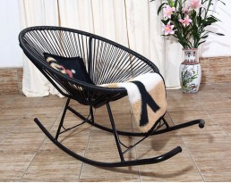 Outdoor Rocking Chair - Black