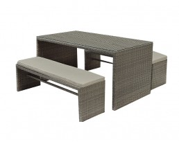 Outdoor Bench Set 1672 - Grey