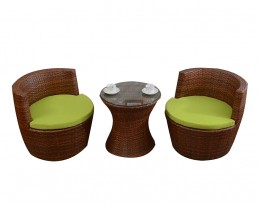 Outdoor Vase Table Set - Brown