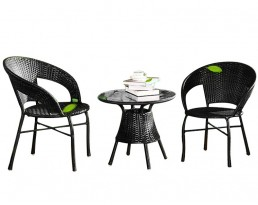 Outdoor Coffee Table Set 510 (1+2) - Black