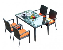 Outdoor Furniture S699 (1+4) - Black