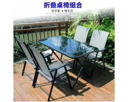 (Pre-order)Outdoor Foldable Rectangular Table - Black